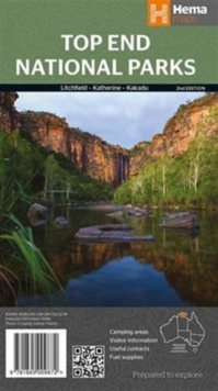 Top End NP Litchfield-Katherine-Kakadu, Sheet map, folded Book