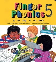 Finger Phonics book 5 : in Precursive Letters (BE), Board book Book