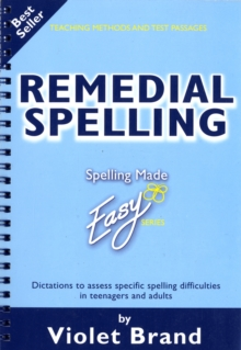 Remedial Spelling, Paperback Book