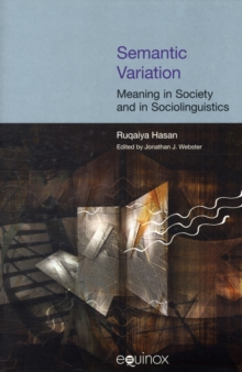 Semantic Variation : Meaning in Society, Paperback Book