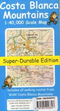 Costa Blanca Mountains Tour & Trail Super-durable Map, Sheet map, folded Book