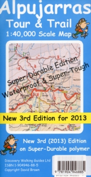 Alpujarras Tour & Trail Super-Durable Map, Sheet map, folded Book
