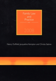 Family Law and Practice, Paperback Book