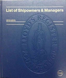 List of Shipowners & Managers, Leather / fine binding Book