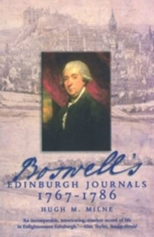 Boswell's Edinburgh Journals : 1767-1786, Paperback / softback Book