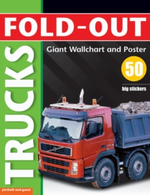 Fold-Out Poster Sticker Book: Trucks, Fold-out book or chart Book