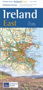 The Ireland Holiday Map - East, Sheet map, folded Book