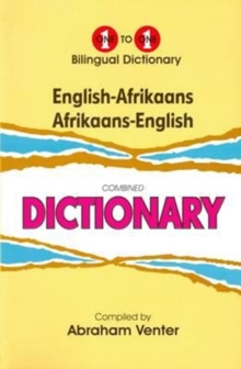 English-Afrikaans & Afrikaans-English One-to-One Dictionary, Hardback Book