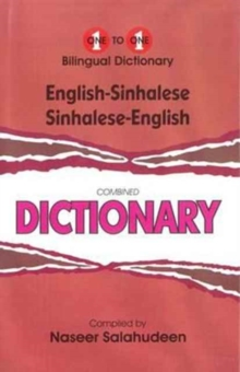English-Sinhalese & Sinhalese-English One-to-one Dictionary : Script & Roman (Exam Dictionary), Hardback Book