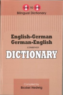 English-German & German-English One-to-One Dictionary, Paperback Book