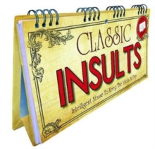 Classic Insults Flip Book, Spiral bound Book