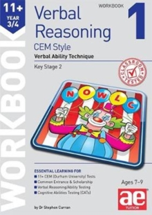 11+ Verbal Reasoning Year 3/4 CEM Style Workbook 1 : Verbal Ability Technique, Paperback / softback Book