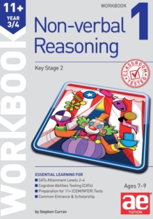 11+ Non-Verbal Reasoning Year 3/4 Workbook 1 : Including Multiple Choice Test Technique, Paperback / softback Book