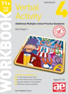 11+ Verbal Activity Year 4/5 Workbook 4 : Additional Multiple-choice Practice Questions, Paperback Book