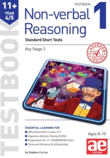 11+ Non-verbal Reasoning Year 4/5 Testbook 1 : Standard Short Tests, Paperback Book