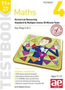 11+ Maths Year 5-7 Testbook 3 : Numerical Reasoning Standard & Multiple-Choice 35 Minute Tests, Paperback / softback Book