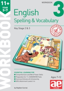 11+ Spelling and Vocabulary Workbook 3 : Foundation Level, Paperback Book