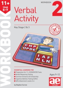 11+ Verbal Activity Year 5-7 Workbook 2 : Including Multiple Choice Test Technique, Paperback Book