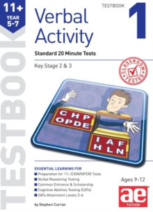 11+ Verbal Activity Year 5-7 Testbook 1 : Standard 20 Minute Tests, Paperback Book