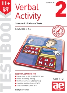 11+ Verbal Activity Year 5-7 Testbook 2 : Standard 20 Minute Tests, Paperback Book