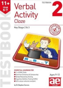 11+ Verbal Activity Year 5-7 Cloze Testbook 2, Paperback Book