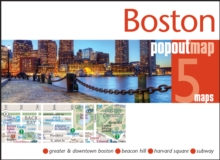 Boston PopOut Map, Sheet map, folded Book
