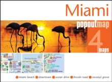 Miami PopOut Map, Sheet map, folded Book