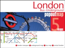 London Bus and Underground PopOut Map, Sheet map, folded Book