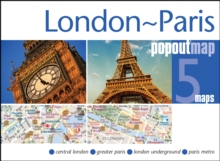 London & Paris PopOut Map, Sheet map, folded Book