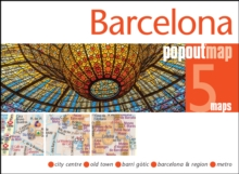 Barcelona PopOut Map, Sheet map, folded Book