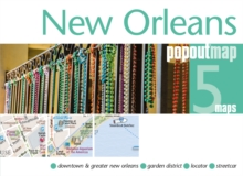 New Orleans PopOut Map, Sheet map, folded Book