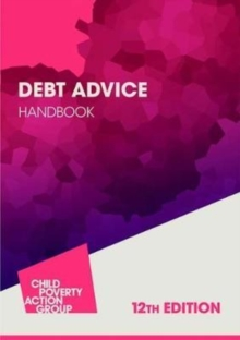 Debt Advice Handbook, Paperback / softback Book
