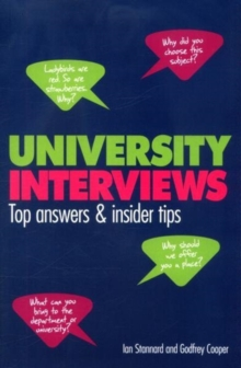 University Interviews : Top Answers & Insider Tips, Paperback / softback Book