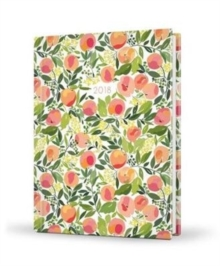 2018 Recipe Diary Peaches Design : A5 Week-to-View Diary with 56 Delicious Triple-Tested Recipes plus a Handy Pocket, Hardback Book