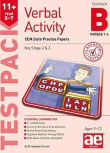 11+ Verbal Activity Year 5-7 Testpack B Papers 1-4 : CEM Style Practice Papers, Undefined Book