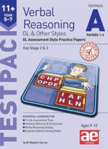 11+ Verbal Reasoning Year 5-7 GL & Other Styles Testpack A Papers 1-4 : GL Assessment Style Practice Papers, Mixed media product Book