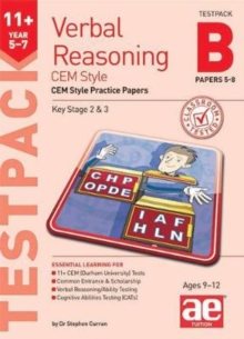 11+ Verbal Reasoning Year 5-7 CEM Style Testpack B Papers 5-8 : CEM Style Practice Papers, Mixed media product Book
