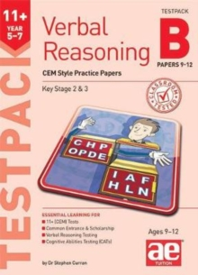 11+ Verbal Reasoning Year 5-7 CEM Style Testpack B Papers 9-12 : CEM Style Practice Papers, Mixed media product Book