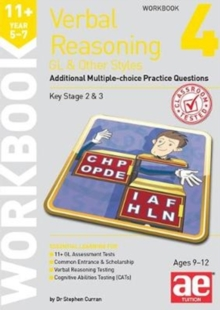 11+ Verbal Reasoning Year 5-7 GL & Other Styles Workbook 4 : Additional Multiple-choice Practice Questions, Paperback / softback Book