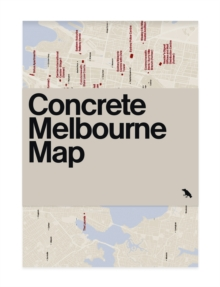 Concrete Melbourne Map, Sheet map, folded Book