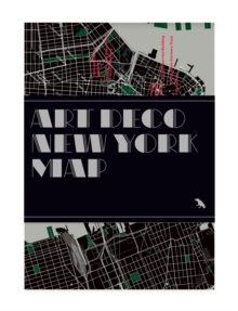 Art Deco New York Map, Sheet map, folded Book