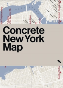 Concrete New York Map, Sheet map, flat Book