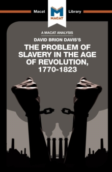 The Problem of Slavery in the Age of Revolution, Paperback Book