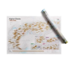 Alpine Climbs Collect and Scratch Print, Sheet map, rolled Book