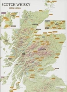 Whisky Distilleries Collect and Scratch Print, Sheet map, rolled Book