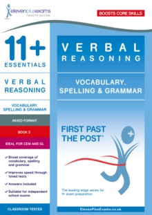 11+ Essentials Verbal Reasoning: Vocabulary, Spelling & Grammar Book 2, Paperback / softback Book