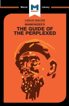 Moses Maimonides's Guide of the Perplexed, Paperback / softback Book