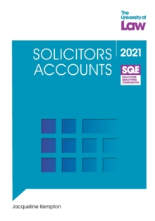 SQE - Solicitors Accounts, Paperback / softback Book
