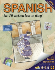 Spanish in 10 Minutes a Day : New Digital Download, Paperback Book