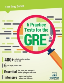 6 Practice Tests for the GRE, Paperback Book